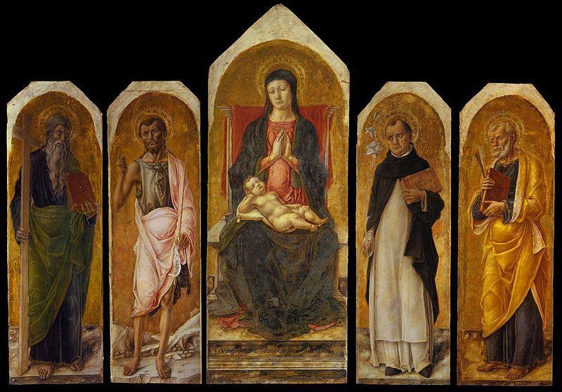 440. Bartolomeo Vivarini - Polittico di Ca' Morosini - 1464 - Venezia, Gallerie dell'Accademia