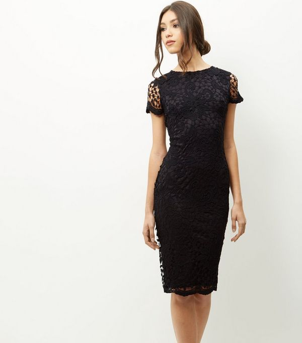 Ax paris cut in lace midi dress