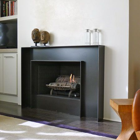 Assymetrically Balanced Hot Rolled Steel Fireplace Surround @ Tom & Pete's New Loft ...