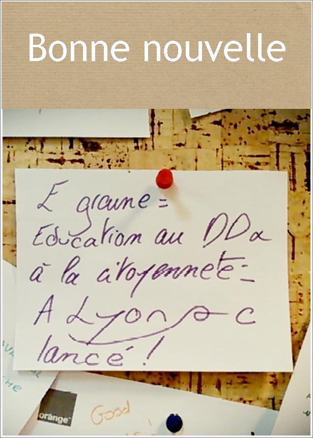 Zoé, des Accorderies, est également bénévole pour e-Graine, qui se développe à Lyon. Bravo ! Découvrez l'association ici : http://www.e-graine.org/