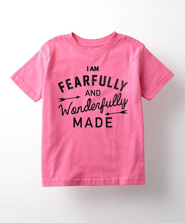 Look at this Raspberry 'Fearfully and Wonderfully Made' Tee - Toddler & Girls on #zulily today!