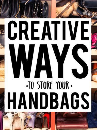 Creative Ways To Store/Display Your Handbags #closet #organization
