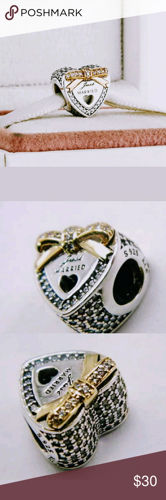 Pandora Just Married Wedding Day Charm | Pandora wedding, Pandora ...