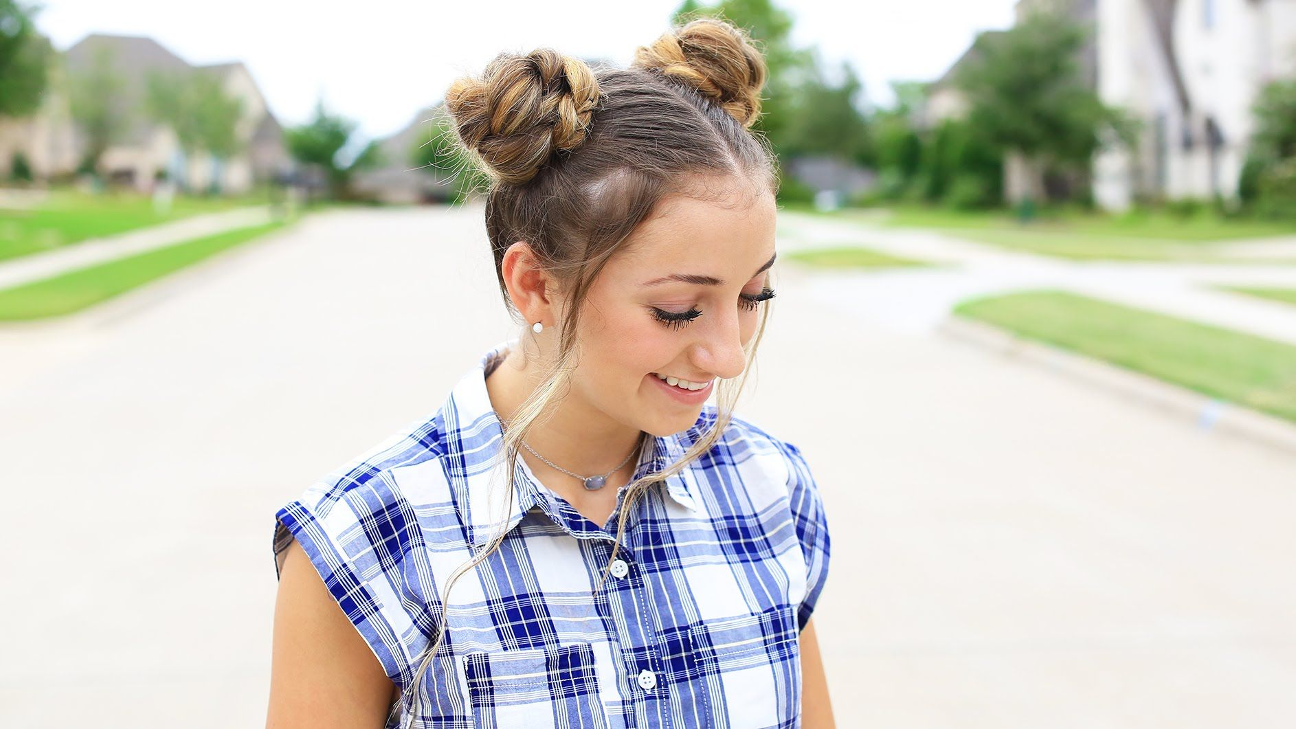 How to Create Double Braided Buns Back to School
