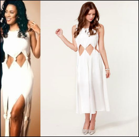 Lela Rochon Wating to Exhale inspired White Dress Look alike | #➇ ...