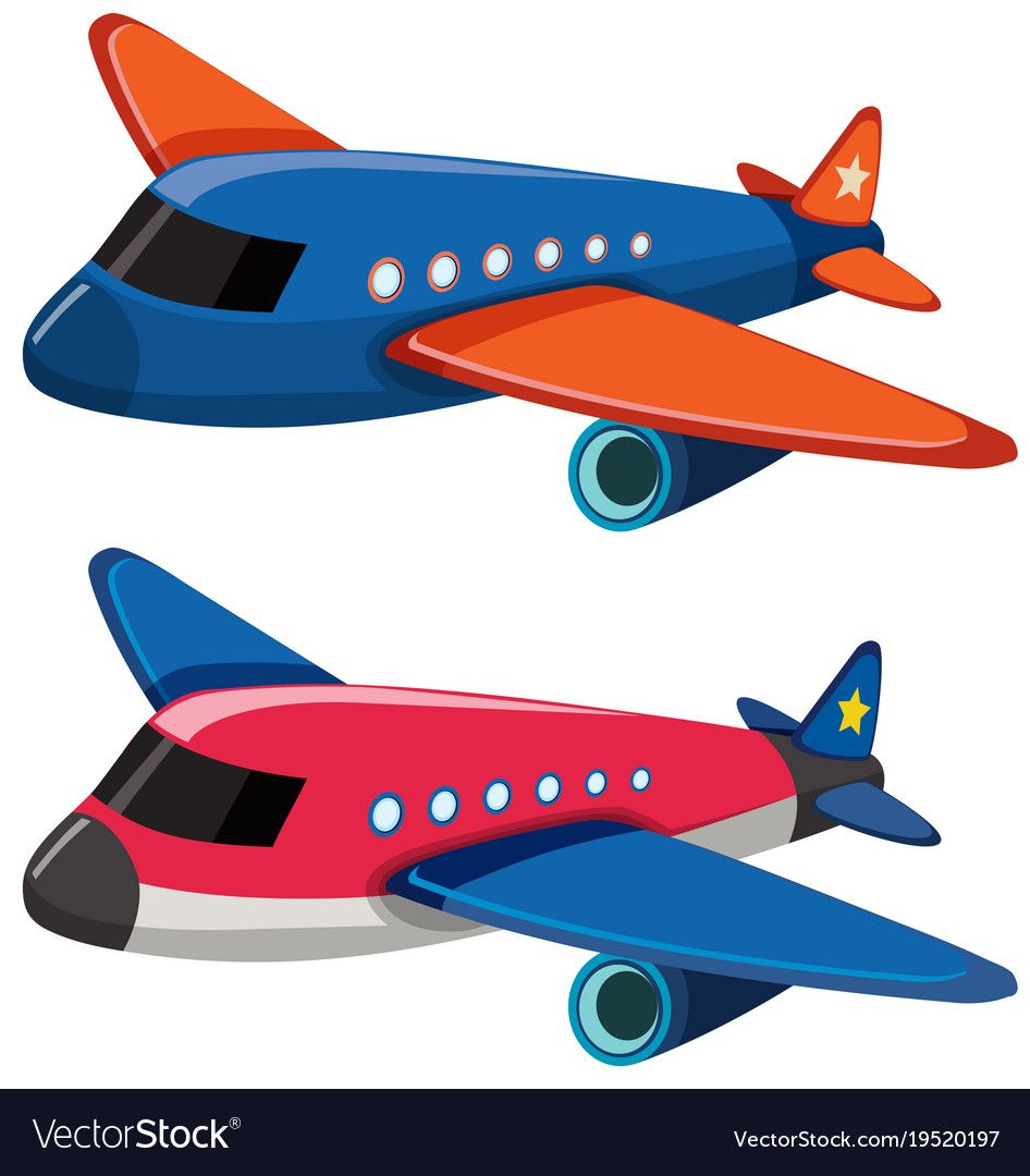 Two Airplanes On White Background Illustration Download A Free Preview Or High Quality Adobe Illustrator Ai Drawing For Kids Teacher Cartoon Painting Crafts
