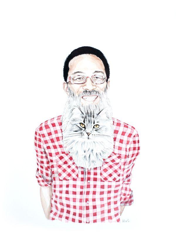 cat beard by Melinda Josie and Chris Buchan