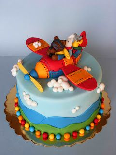 Airplane Birthday cake Childrens Cakes Pinterest Airplane