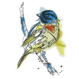 Robin bird   Bird embroidery, Robin bird, Flying bird ...
