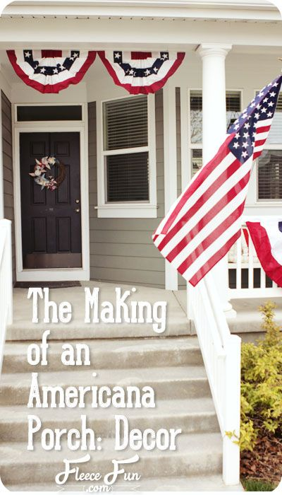 Making Of An Americana Porch Decor