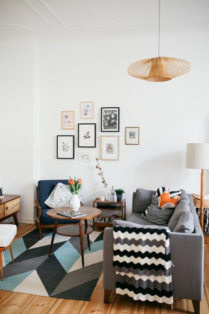 einrichtungsideen für das moderne wohnzimmer geometrische muster - moderne einrichtungsideen wohnzimmer