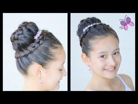 Peinado Para Niñas Con Ligas Y Trenzas Pegadaspeinados Para