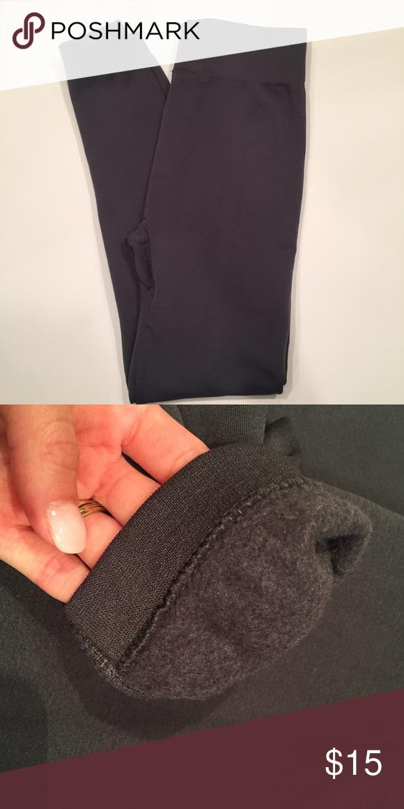 Grey fleece inner leggings NWOT Grey fleece inner leggings NWOT. 90% polyester 10% spandex. Pants Leggings