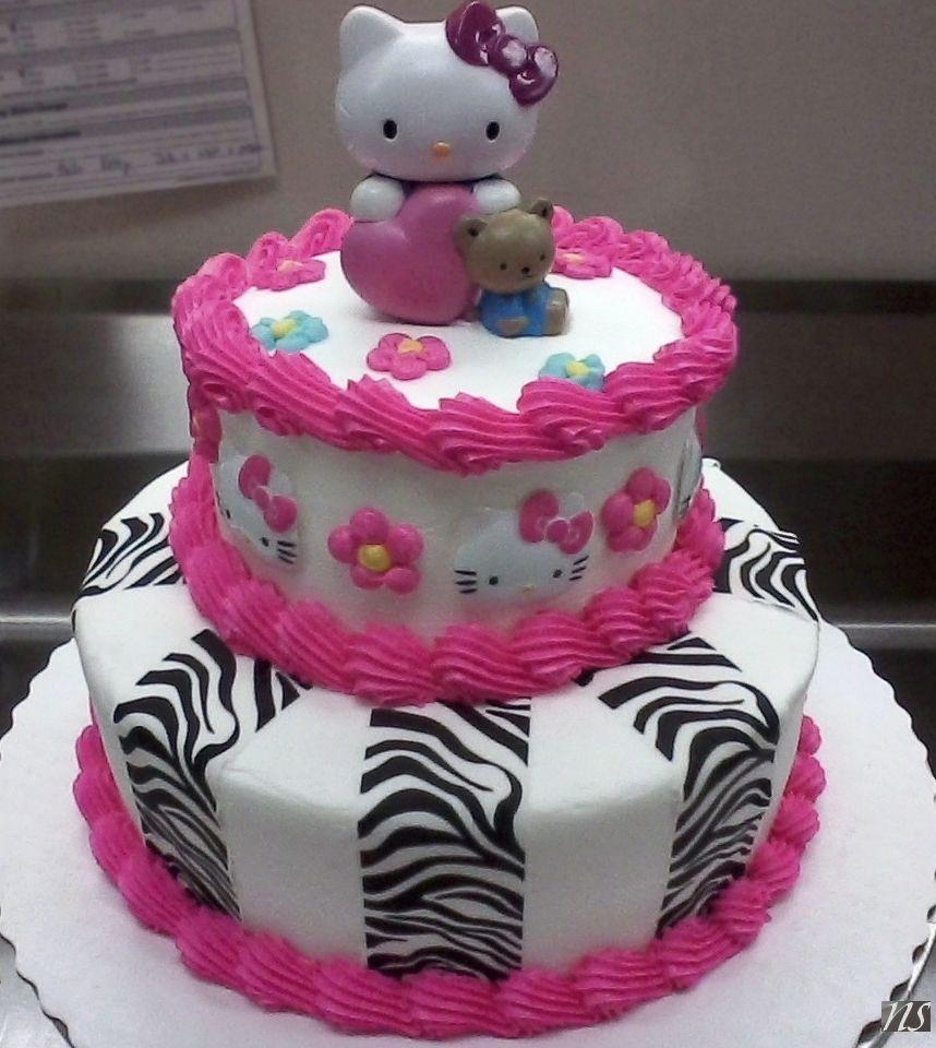 Hello Kitty Pink Zebra cake Buttercream Nikki Stine Cakes