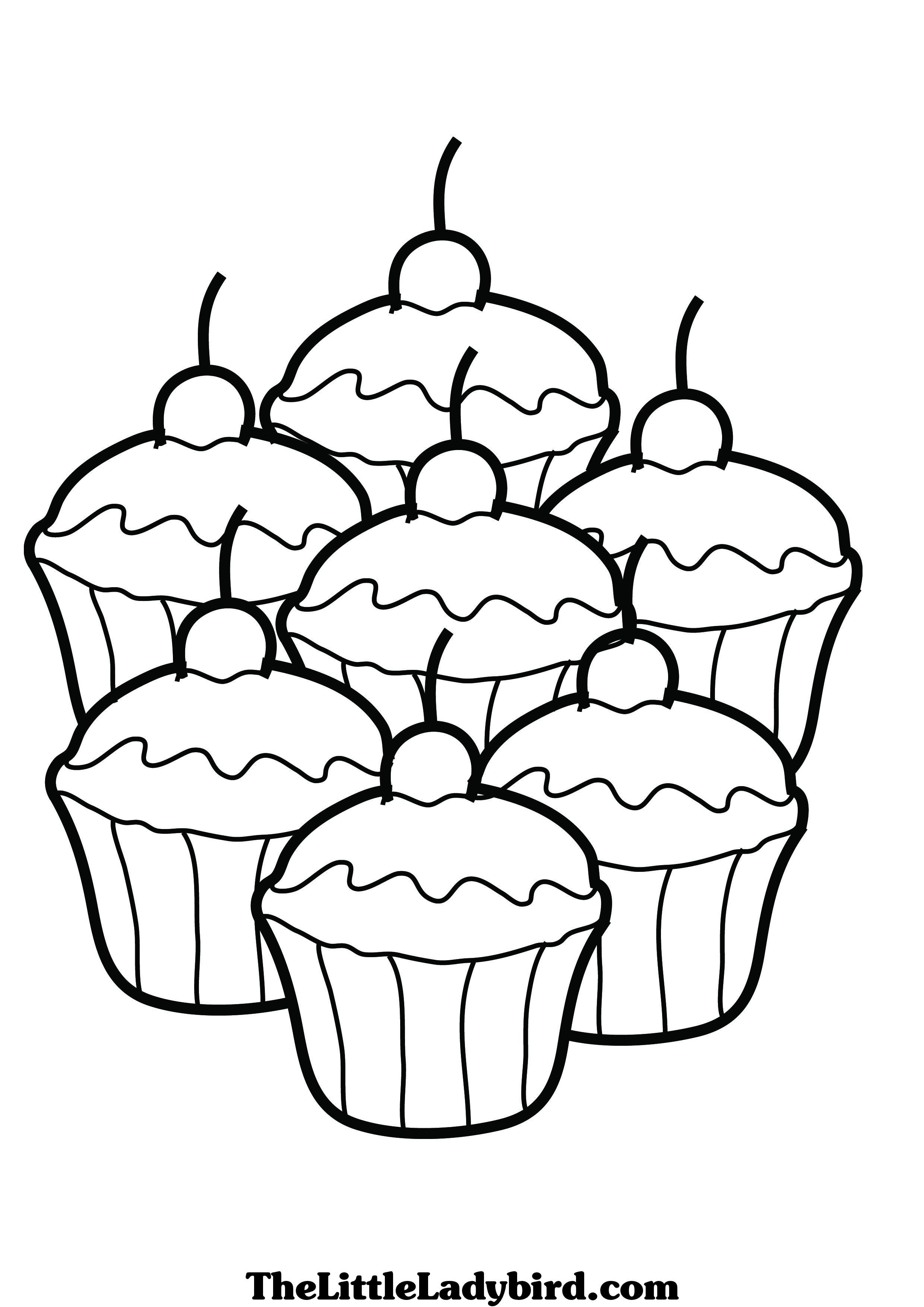 cupcake coloring pages free coloring pages | cup cake | Pinterest ...