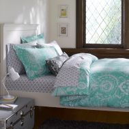 Green And Grey College Dorm Bedding Residential Life