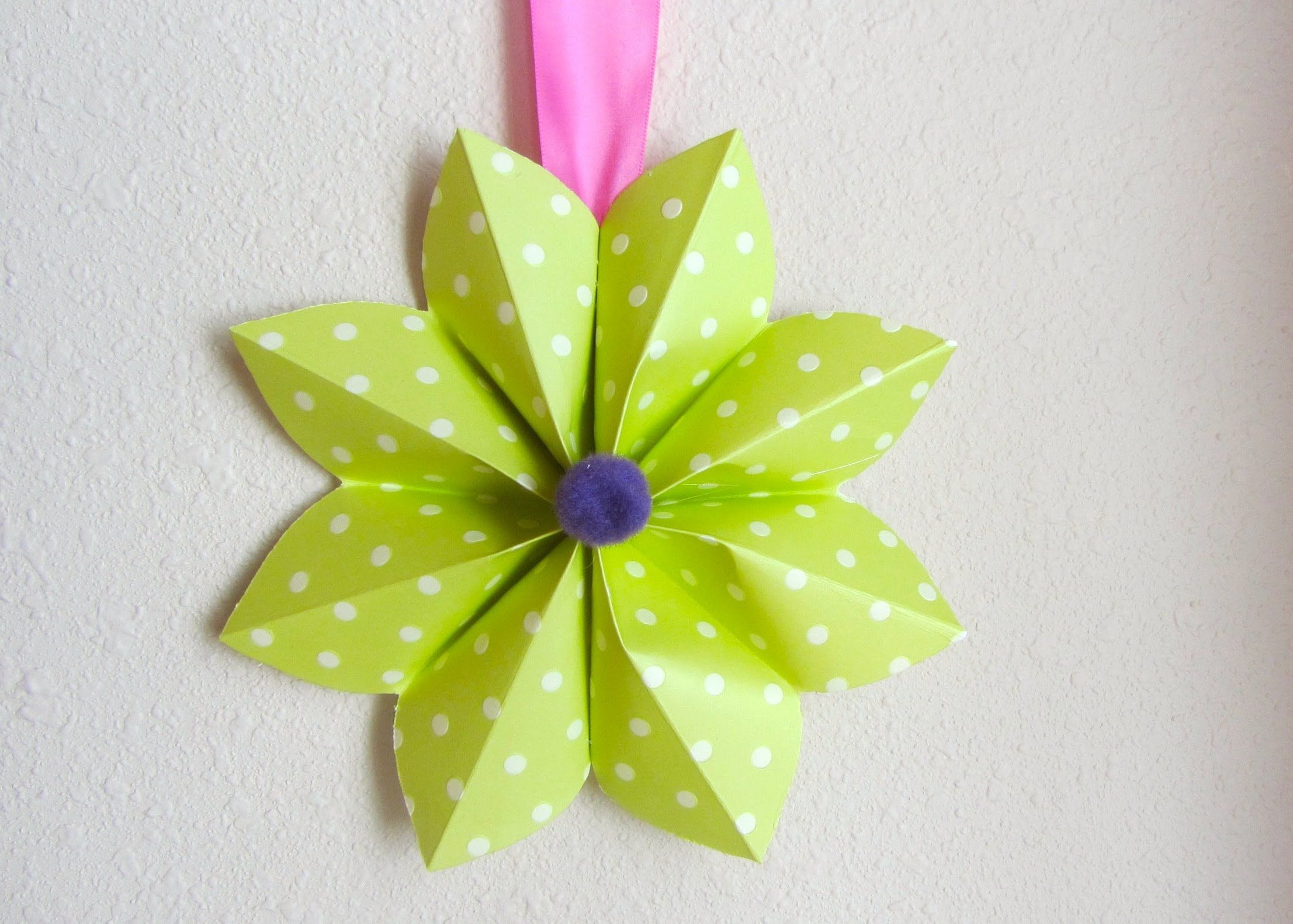 How to Fold a Origami Paper Flower Decoration For a Party or Decor ...
