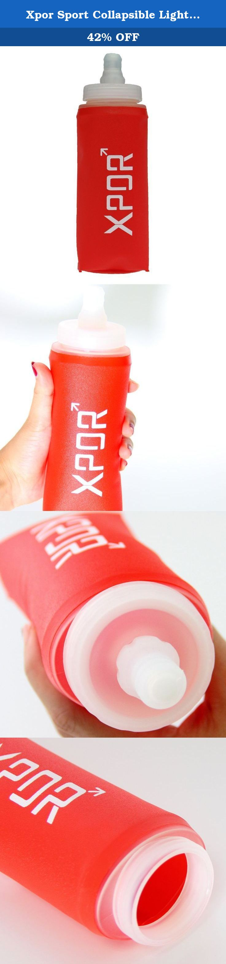 Xpor Sport Collapsible Lightweight Compact Bpa Free Soft Running Water Bottle Soft Hiking Flask Hydration Bot Hydration Bottle Energy Gels Running Water Bottle