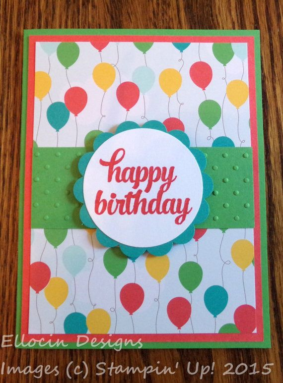 Bright and fun birthday card made with Tin of Cards stamp set and – Designs of Cards for Birthday