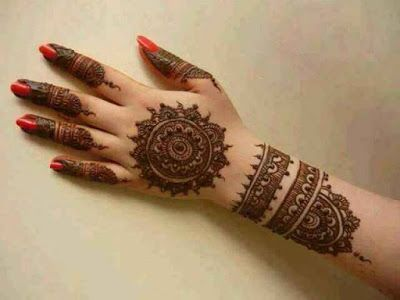 stylish beautiful full hand mehndi designs 5