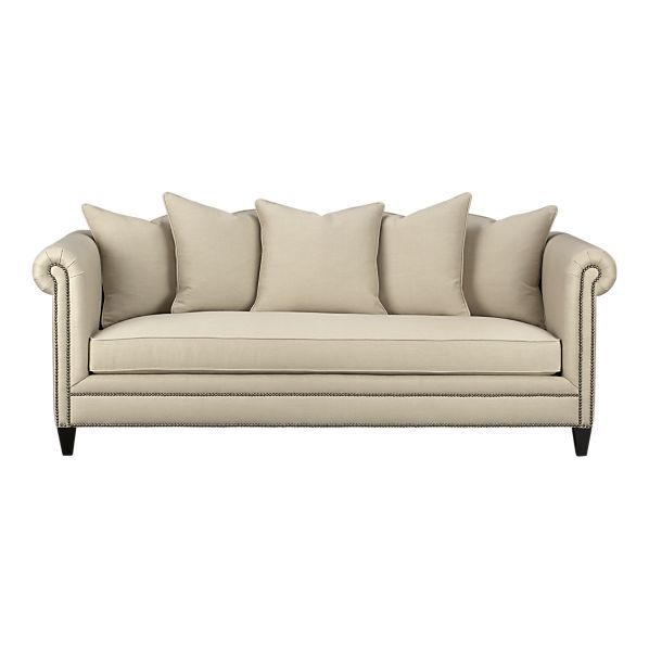 Tailor Sofa Stone | Crate & Barrel