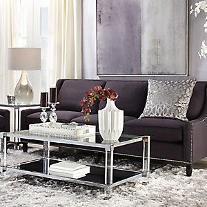 Reese Aubergine Living Room Inspiration