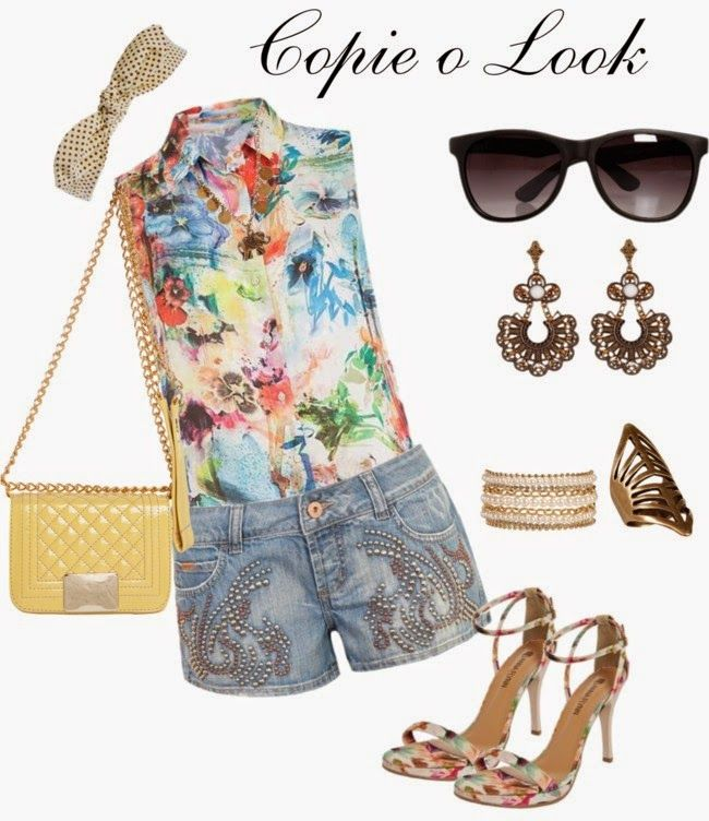 Short Jeans copie o look