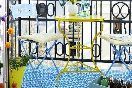 Knallbunte Balkon Mobel Dekoration Pinterest Balconies
