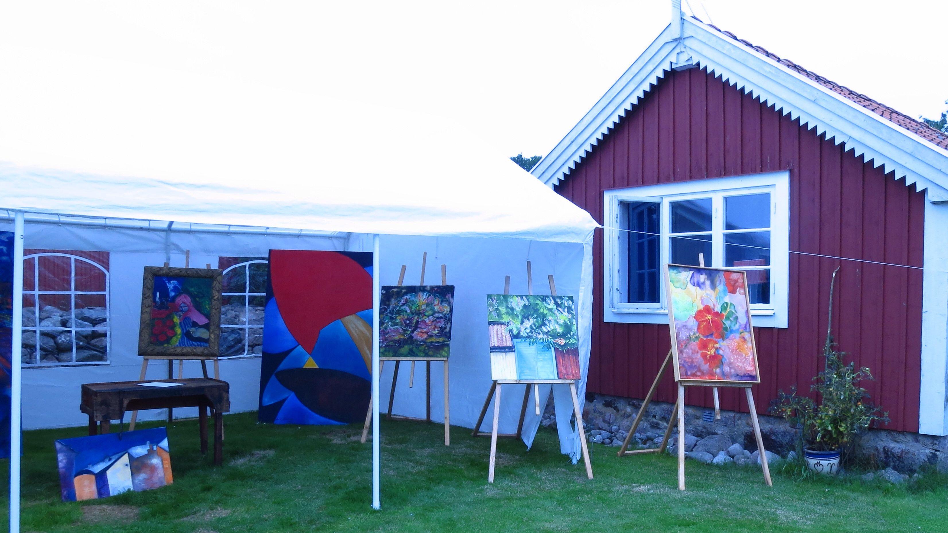Open garden at Aspö Konstrunda, Painting by Monica Klemming