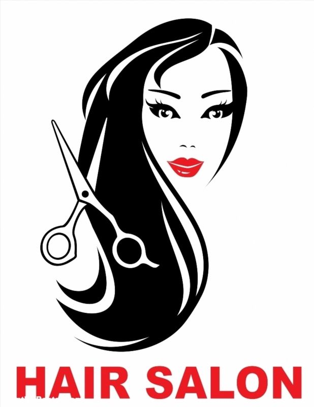 Hair Salon Icon With Woman Face And Long Beautiful Hair Poster Id 149319722 Hair Poster Hair Salon Woman Face