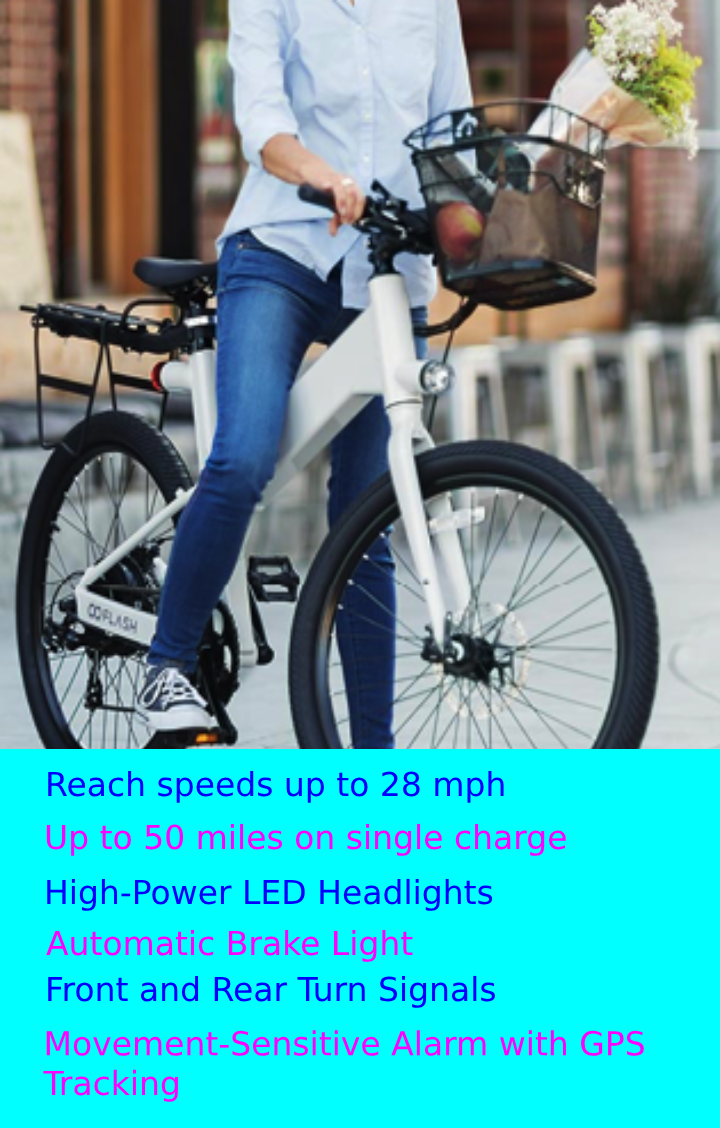 Electric Bicycle Comfort Safety And Security With Gps Tracking