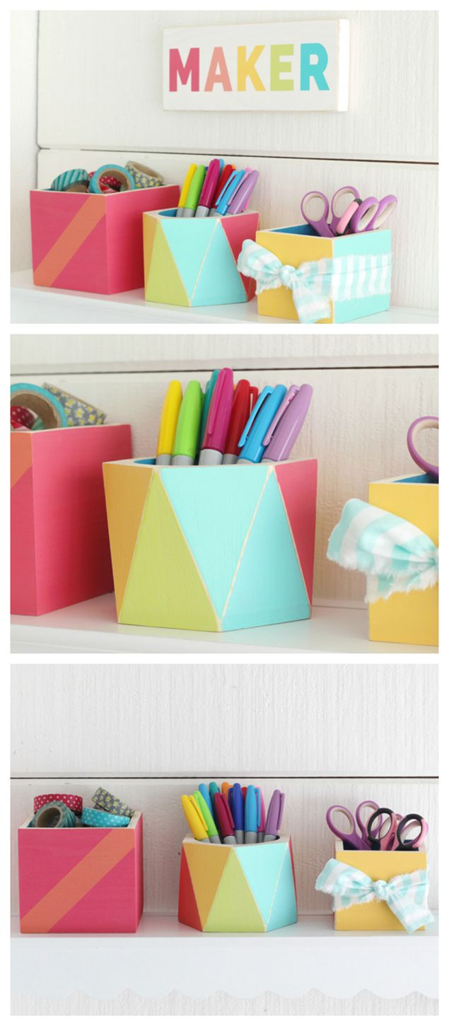 Diy Project Ideas Fun Easy Office Accessories Craft Room Office Office Accessories Diy Projects