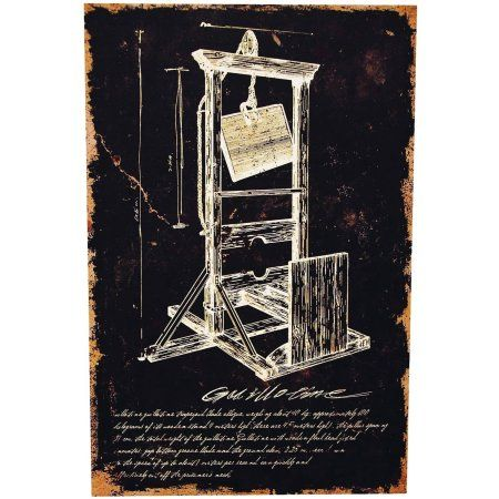 Guillotine Canvas without Frame Halloween Decoration, Multicolor