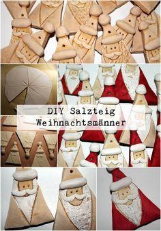 Weihnachtsbasteln Salzteig.Diy Salzteig Weihnachtsmänner Basteln Handmade Christmas