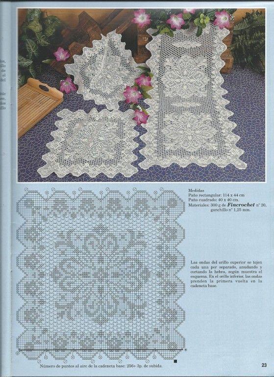 Фотография | Crochet Doily & filet chart free | Pinterest | Carpeta ...