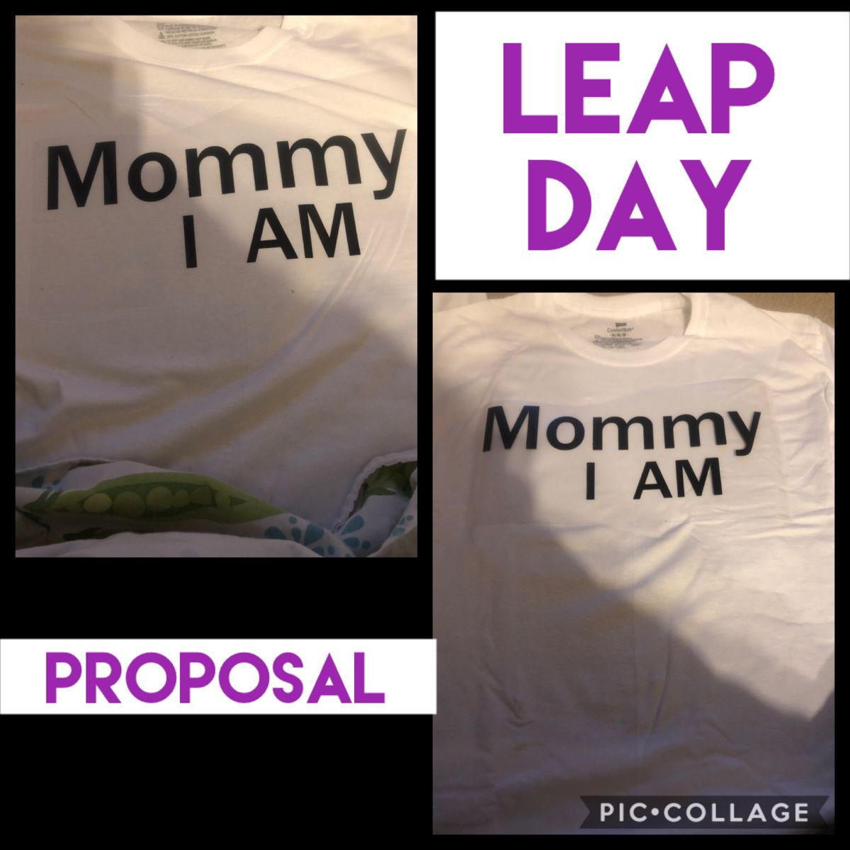 Mommy And Baby Shirt For Leap Day Proposal To Daddy In