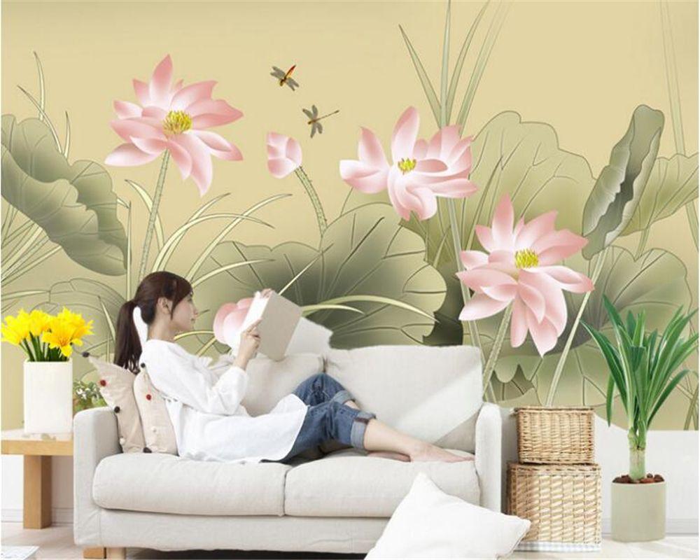 beibehang Customizable interior decoration wall paper papel de ...