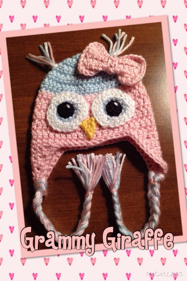 Newborn Size Crochet Owl Hat Pattern From Repeat Crafter Me