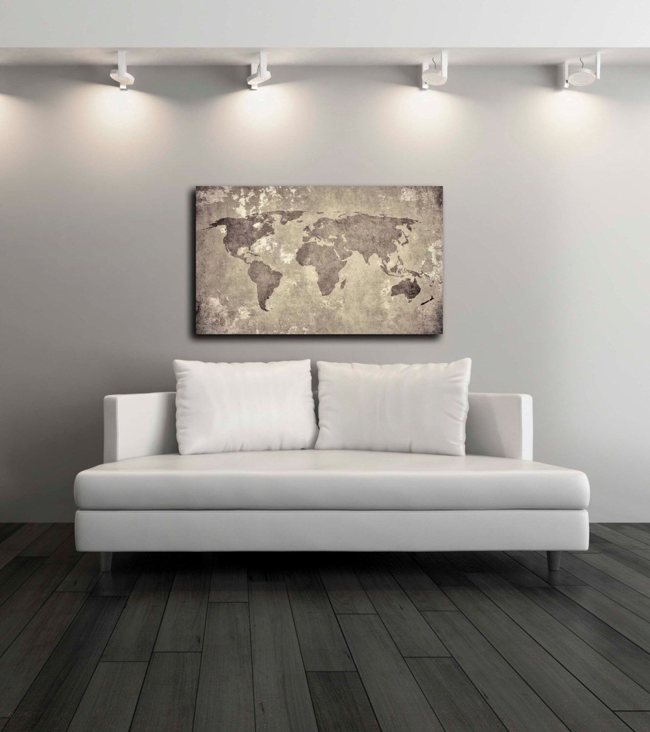 Vintage world map canvas print wall decor world map canvas print vintage world map canvas print wall decor world map canvas print world map gumiabroncs Images