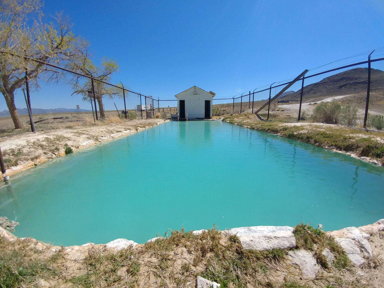 Natural hot springs pool at Dufurrena Ponds | Nevada