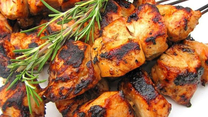 Rosemary Ranch Chicken Kabobs  This rosemary ranch chicken recipe is so delicious tender and juicy the chicken will melt in your