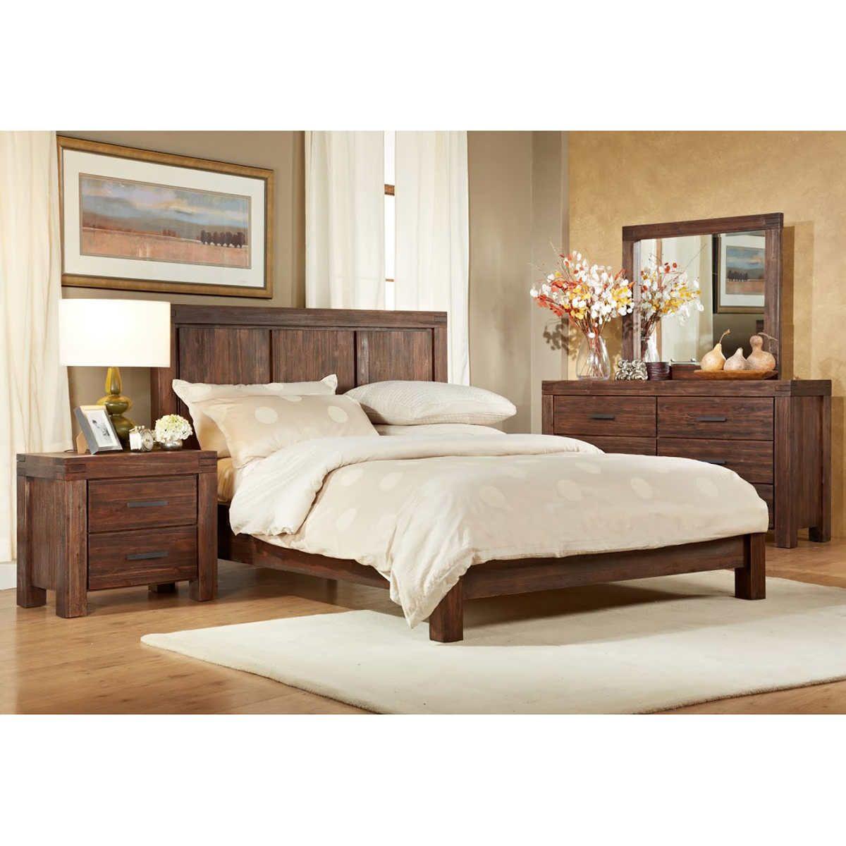 Mellina 5 Piece Cal King Bedroom Set Full Bedroom Furniture Sets King Bedroom Sets Rustic Bedroom Design 5 piece bedroom set king