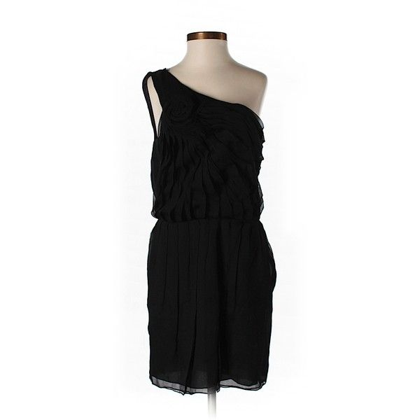 Pre-owned Halston Heritage Silk Dress ($67) ❤ liked on Polyvore featuring dresses, black, silk cocktail dress, kohl dresses, pre owned dresses, black dress and black cocktail dresses