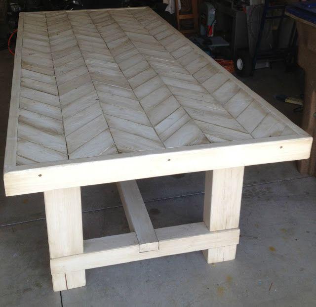 Diy Farmhouse Table Roundup Farmhouse Table Plans Chevron Table Farmhouse Table