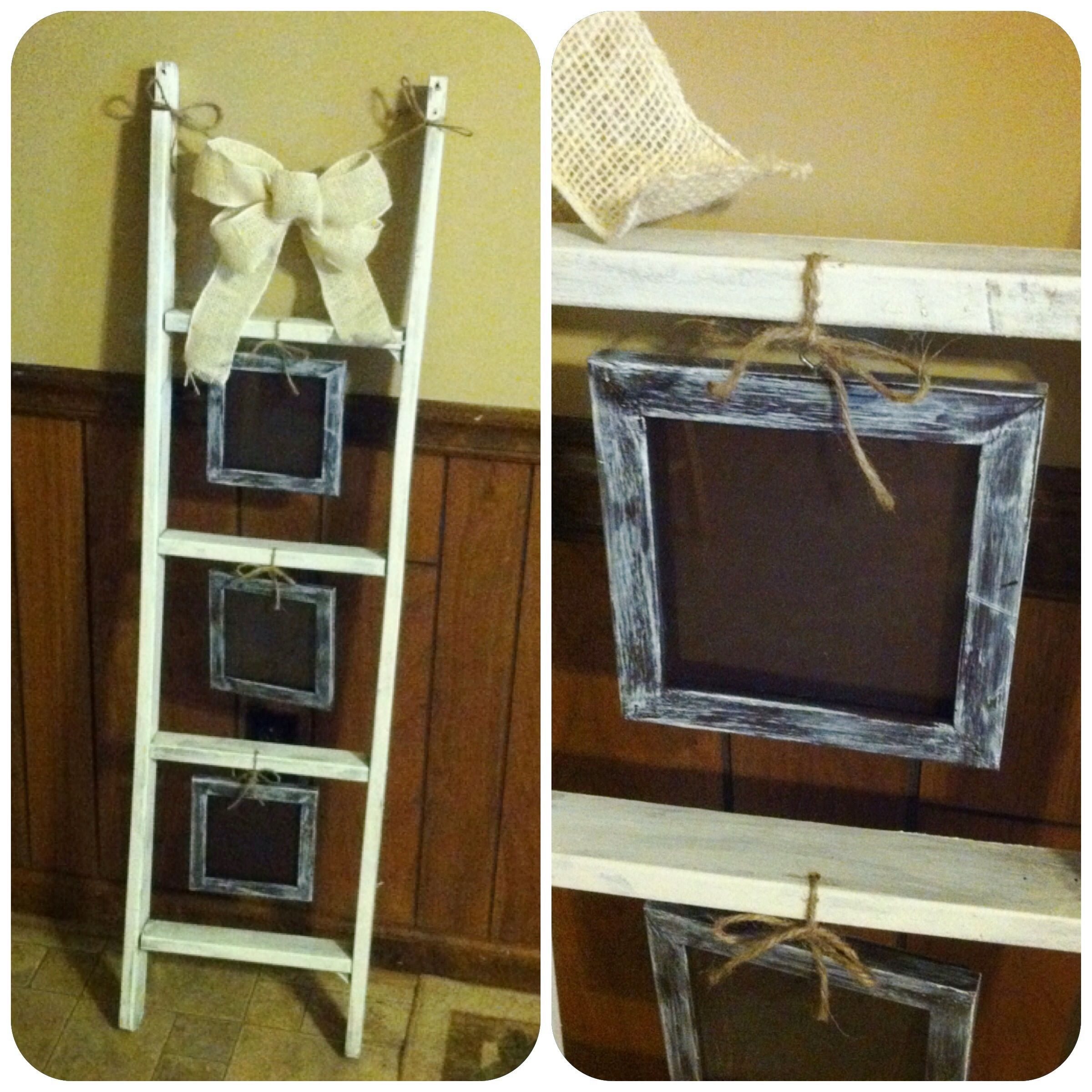 Picture frame ladder