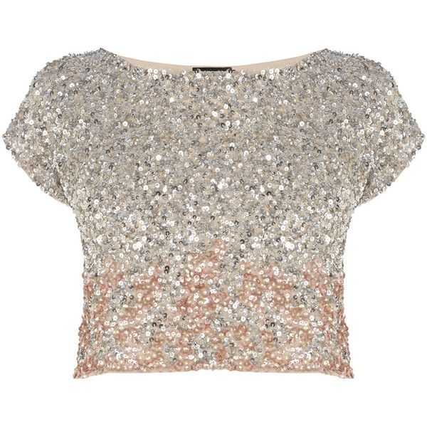 6859b60726ac41 Stand-out and sparkle in our stunning hand beaded Iridesa Top. The  graduated all over sequins and on trend cropped style makes this a true  eye-catcher, ...