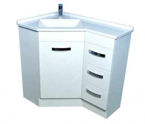 600x900 Corner Vanity Gloss White Abl Tile Corner Vanity Bathroom Remodel Small Budget Corner Bathroom Vanity