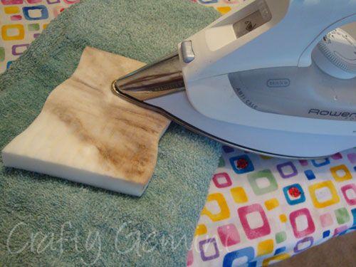 Clean iron with a magic eraser