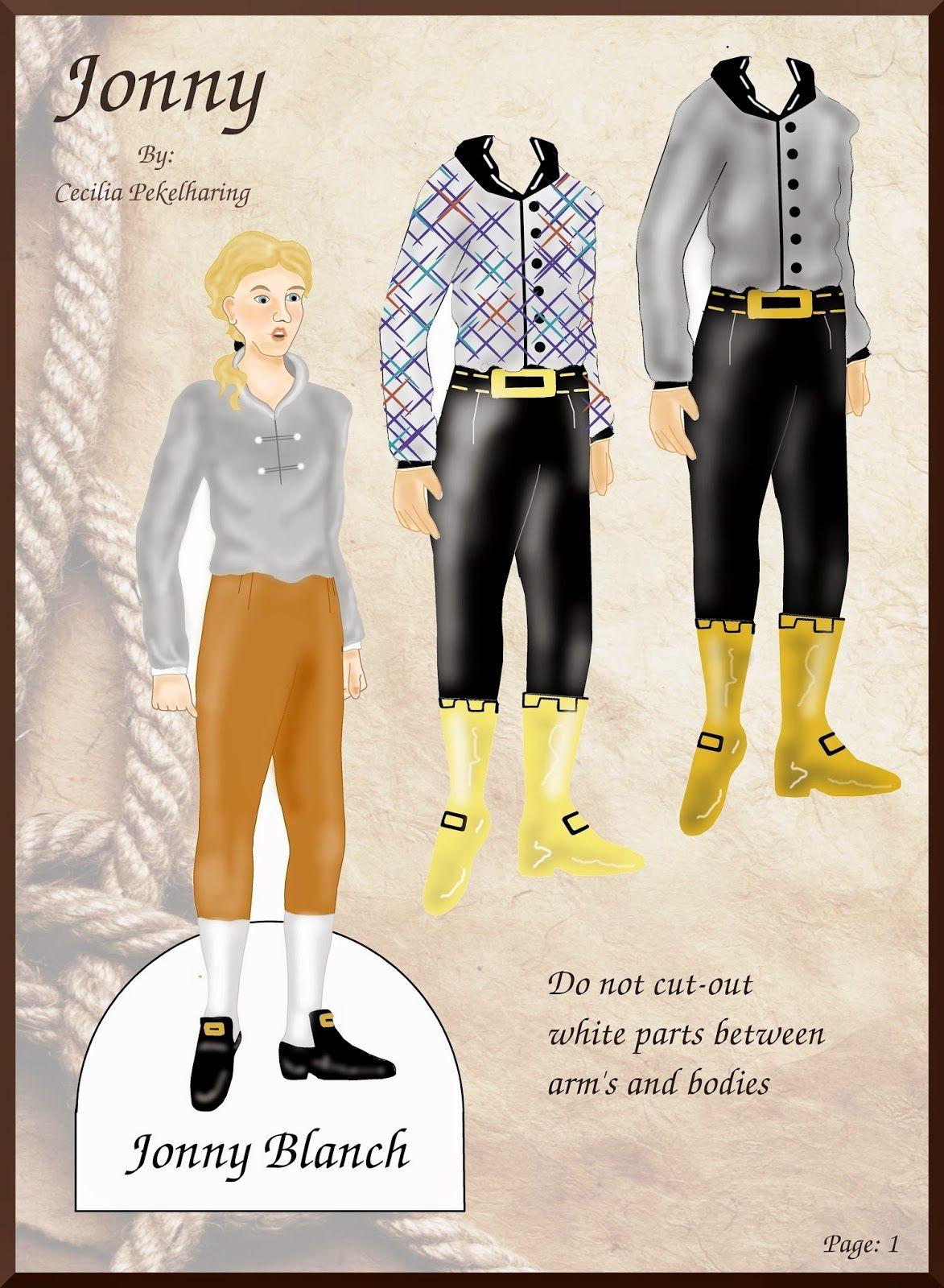 The Dainty Damselfly : Jonny Blanch Paper Doll Cecilia Pekelharing