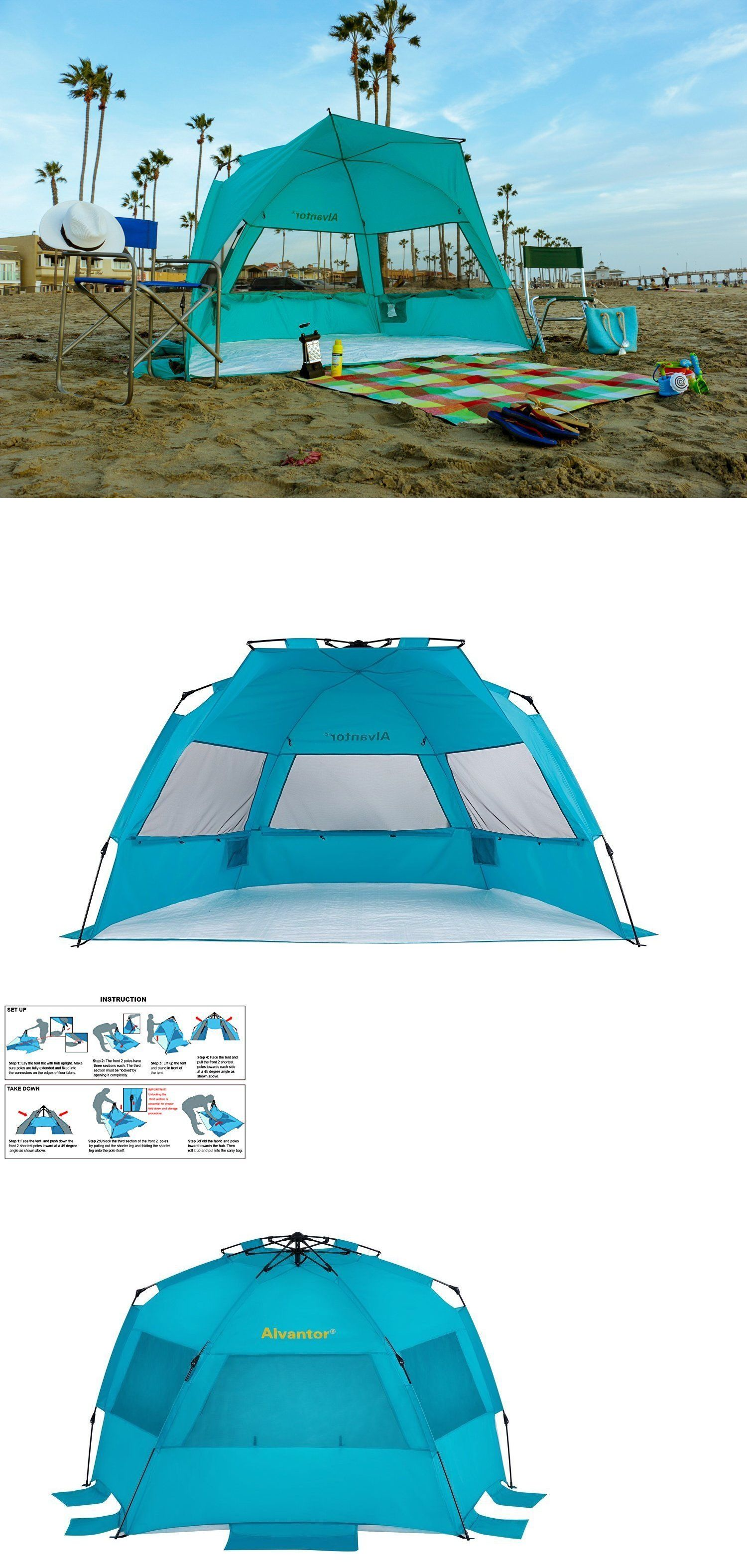 Canopies and Shelters 179011 Large Beach Tent Cabana Canopy Umbrella Outdoor Sun Fun Uv Shelter  sc 1 st  Pinterest & Canopies and Shelters 179011: Large Beach Tent Cabana Canopy ...